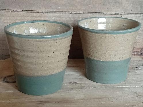 Set of Two Ceramic Beakers