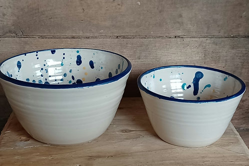 One medium & one small serving bowls