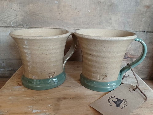 Two Flared & Footed mugs