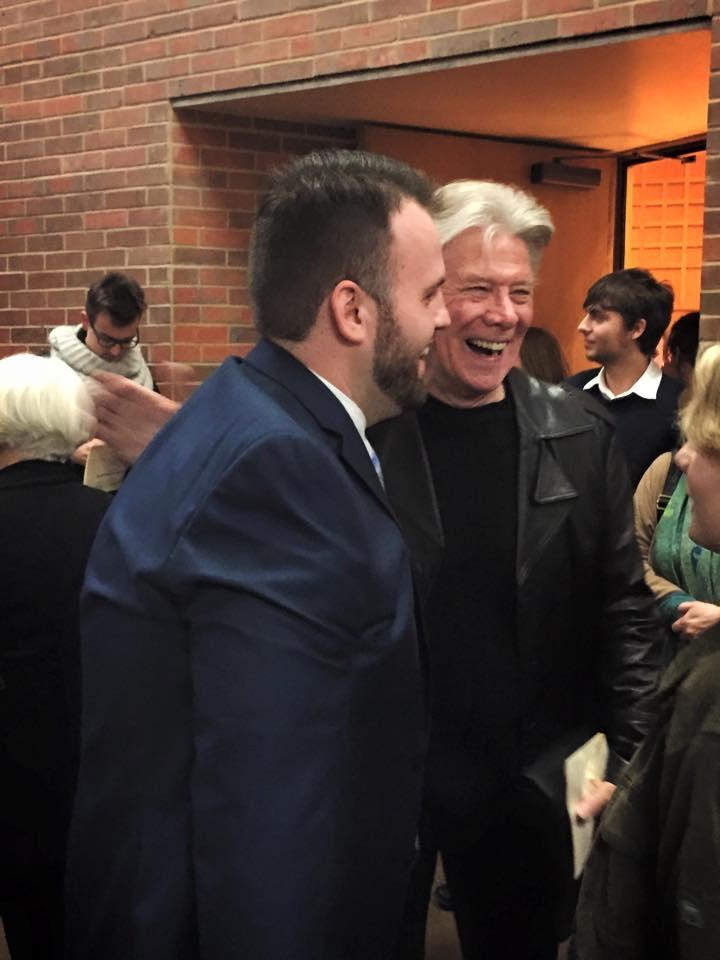 Post-recital with coach, Sam Ramey