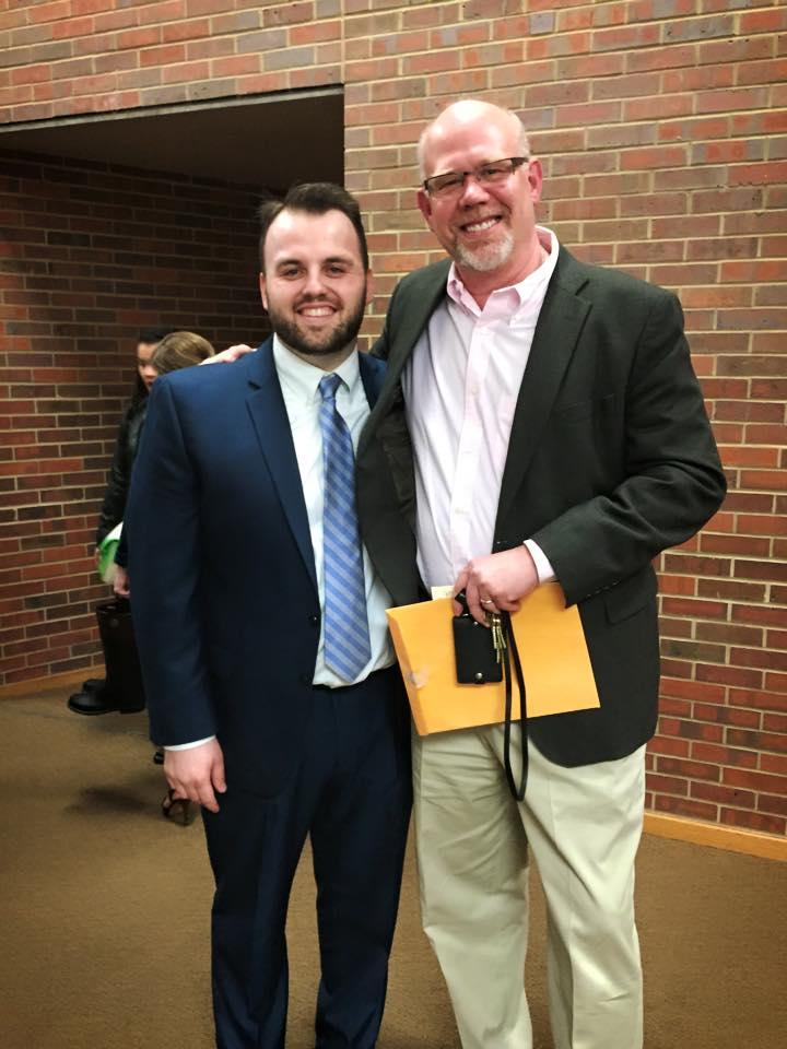 Post-recital with teacher, Alan Held