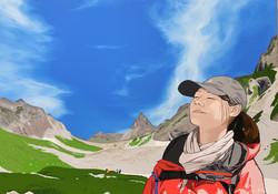 DREAMING GIRL in Mt.YARI