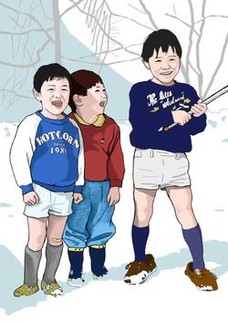 AKIYAMAGO(KIDS ON THE SNOW GROUND)