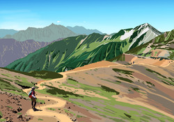 Mt. WASHIBA (Road to Mt. YARI)