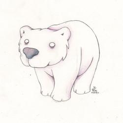 Pastel Polar bear!!
