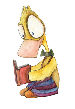 A Duck Reading