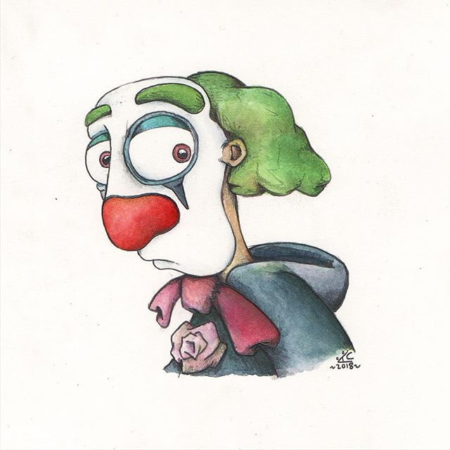 Clown Portrait from my upcoming short Pi