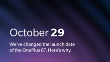 OnePlus 6T announcement moved up a day