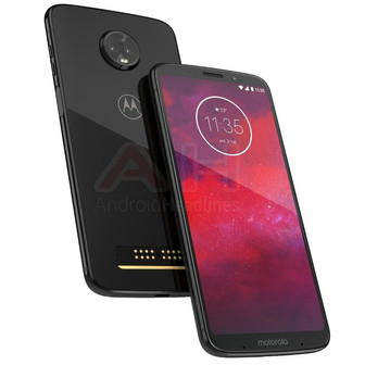 Official Moto Z3 render leaked; identical to Moto Z3 Play