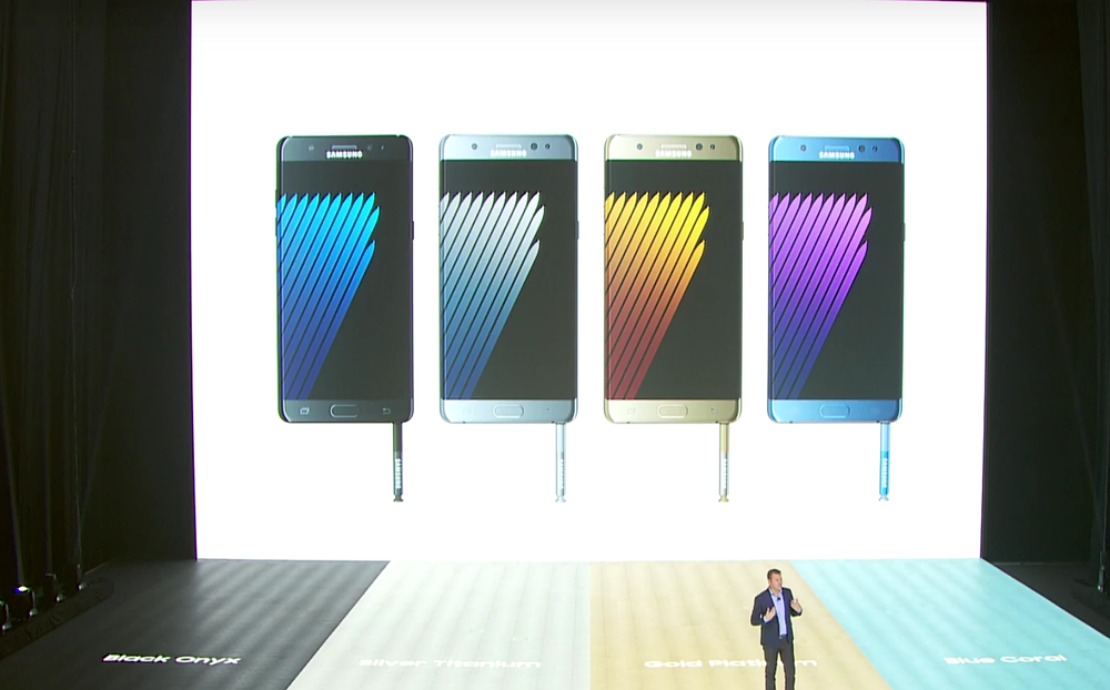 Note 7 Colors - Photo Credit: Samsung