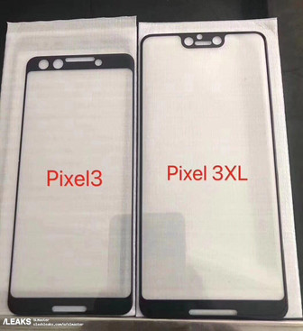 Leaked screen protectors allegedly show Pixel 3/Pixel 3 XL design