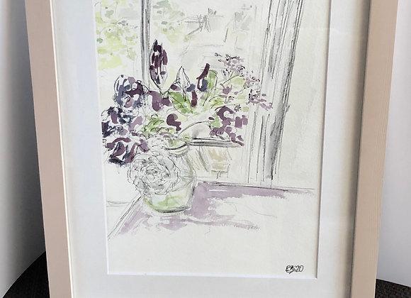 Flowers in Jug Window Aspect
