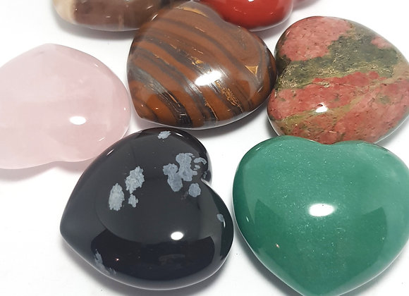natural rock hearts