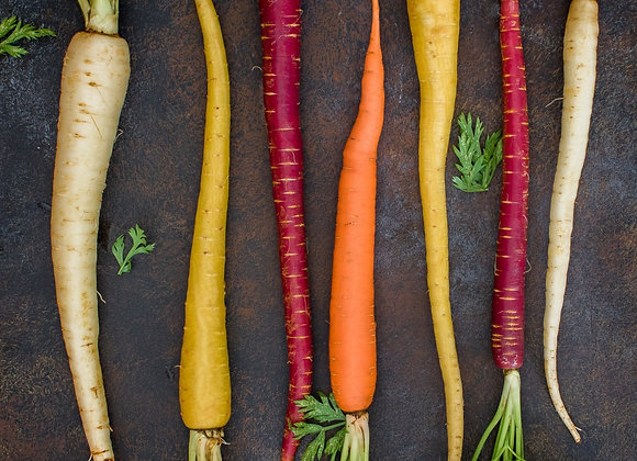 Baby Coloured Carrotts (per kg)