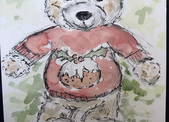 Teddy Bears - watercolour paintings