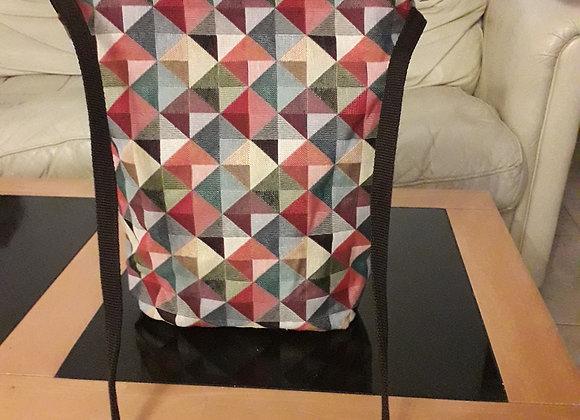 Medium bobycross geometric tapestry bag