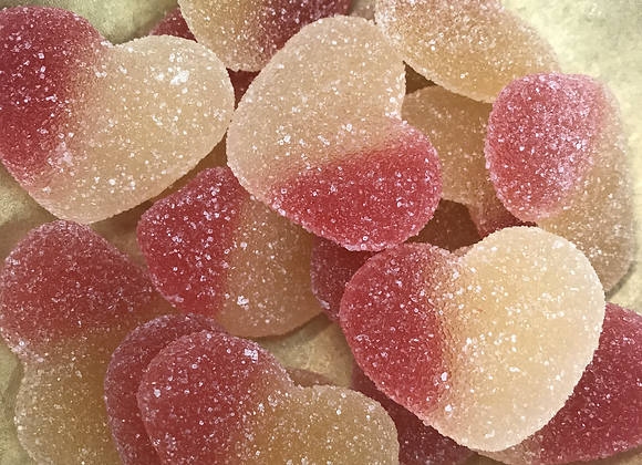Peach Hearts 100g (total min 300g)