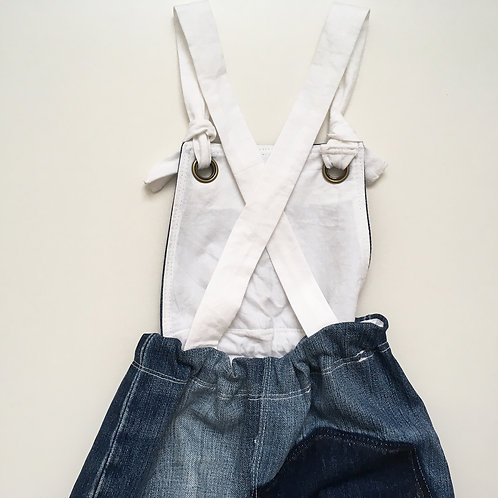 Denim Bib Romper (Upcycled)