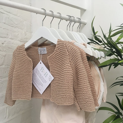 Hand Knitted Fudge Snuggle Cardigan