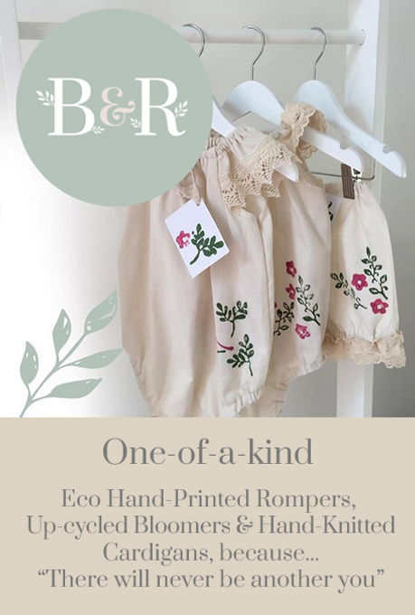 Hand-printed Rompers