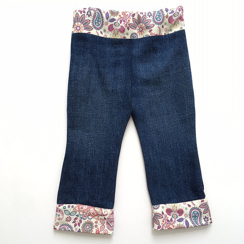 Vintage-Style Flare (Recycled Denim Mid Blue)