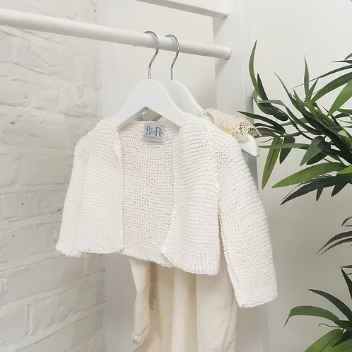 Hand Knitted Cream Snuggle Cardigan