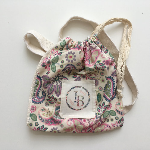 Organic Ballet Shoe Pouch (Personalised with intials)