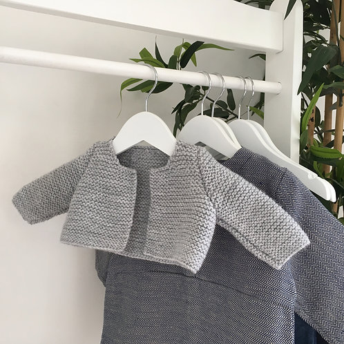 Hand Knitted Grey Snuggle Cardigan