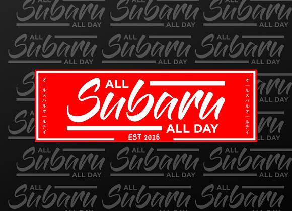 AllSubaruAllDay Red OG Design Slap