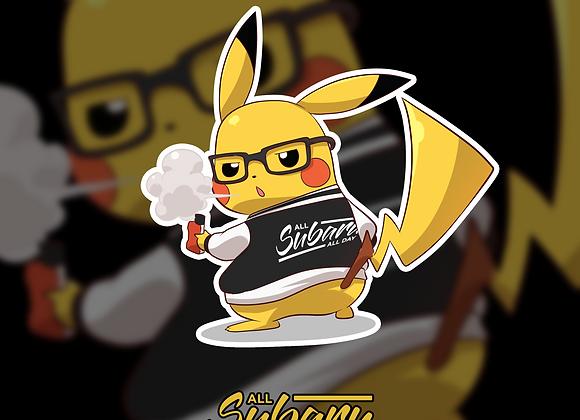 Vaping Pikachu Sticker