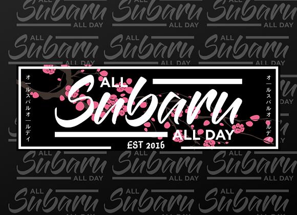 Cherry Blossom ASAD Slap Sticker