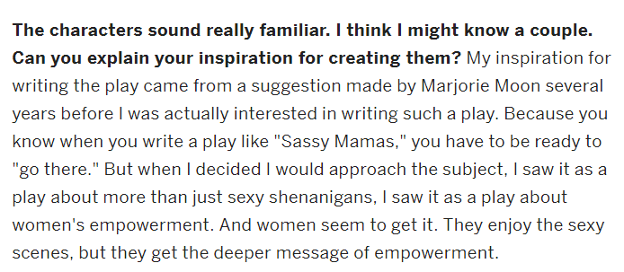 Sassy Mamas Interview