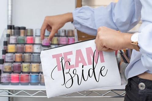 Team Bride Make Up Bag