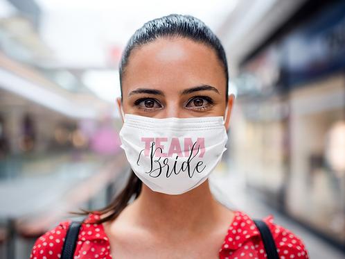 Team Bride Face Mask