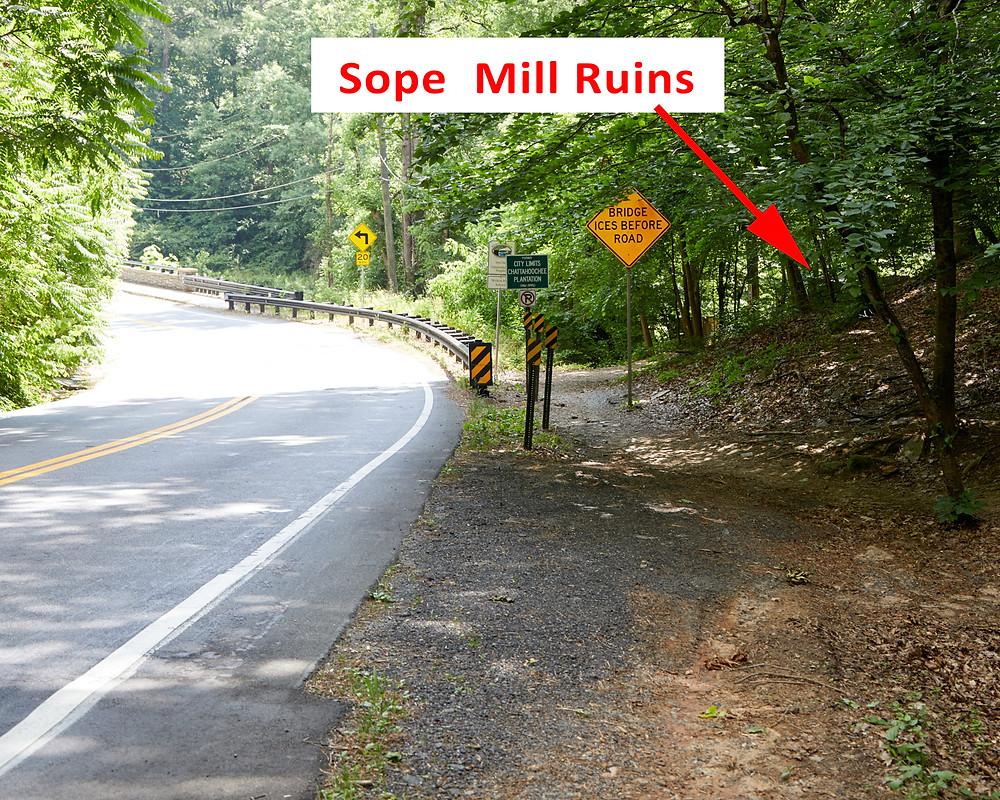 Sope Creek Milll Ruins road access