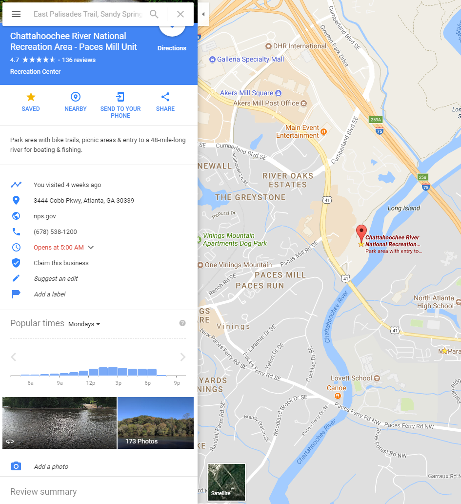 Google Maps Information