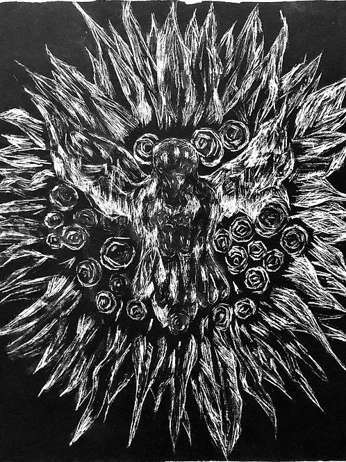 O pássaro que representa (litografia)