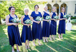 Bridesmaids in our Wrap Gown