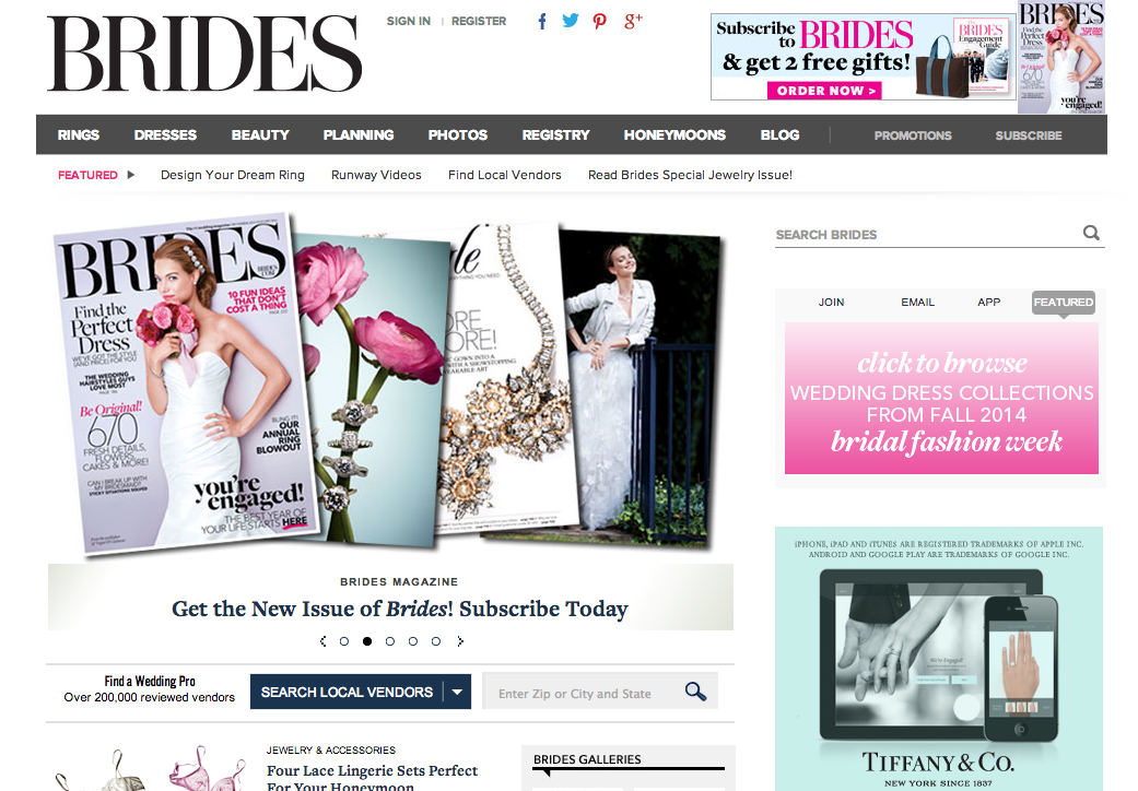 Brides Magazine Runway Feature