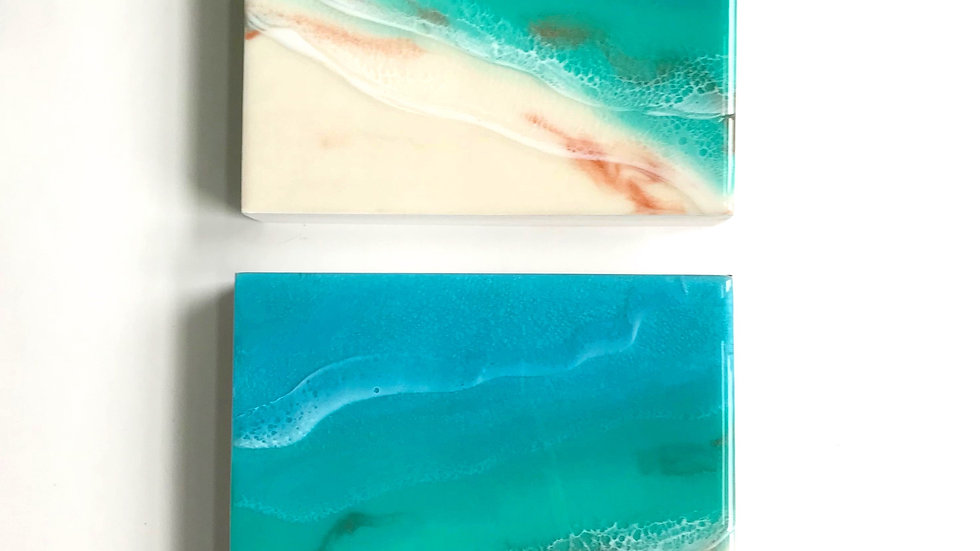 Turquoise Beaches - Mini Beach Paintings