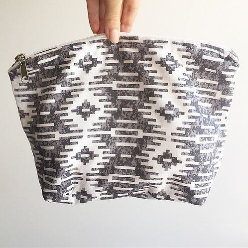 Mosaic Grey Nappy Purse