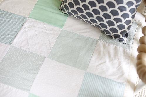 'Mints & Cream' Patchwork Quilt