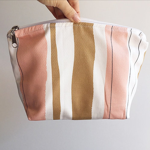 Blush, Tan & White Nappy Purse