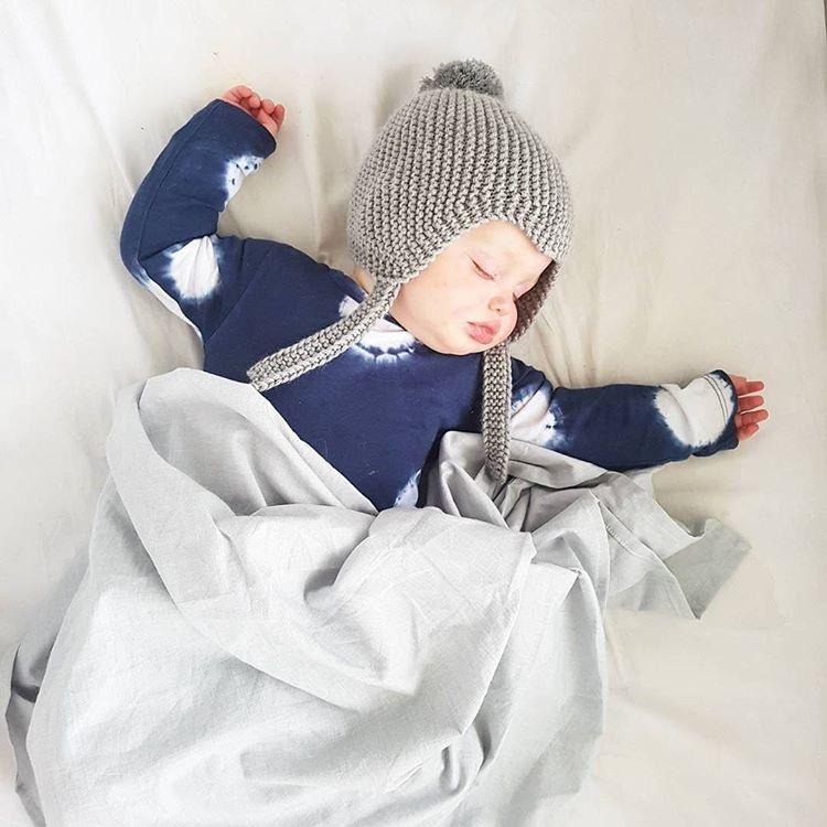 grey baby swaddle
