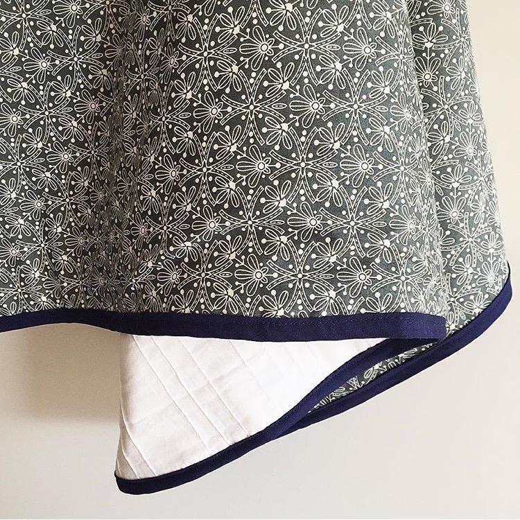 Grey Floral Quilt