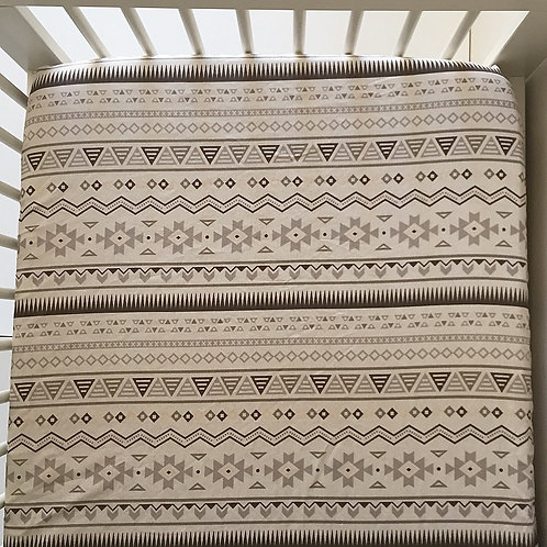 'Aztec Sand' Fitted Cot Sheet