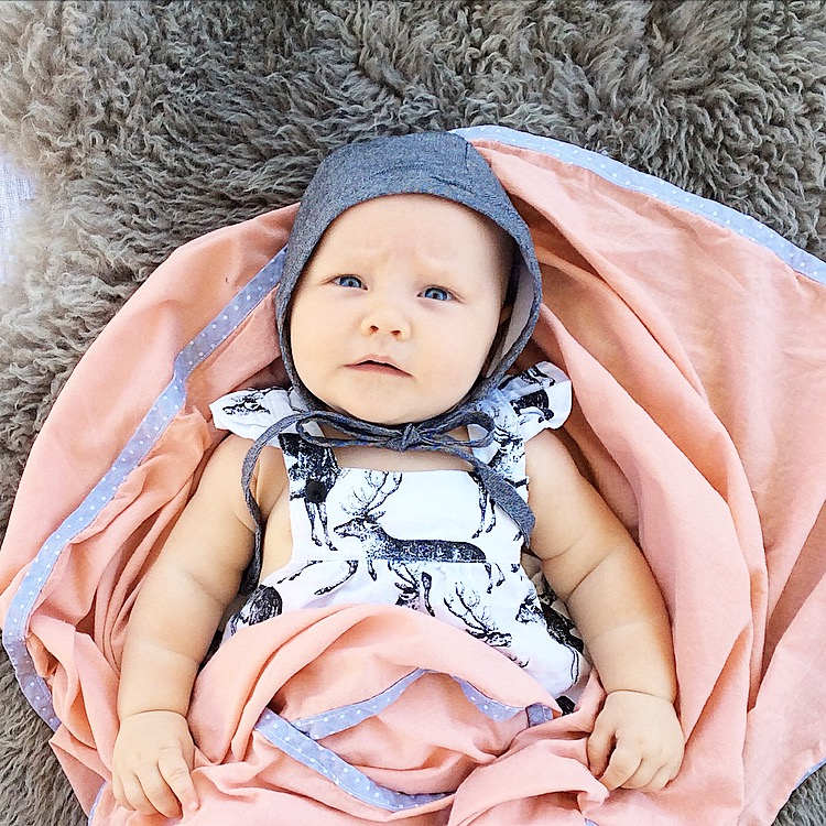 Cub Love Blush Baby Swaddle