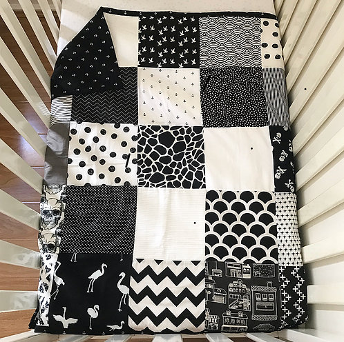 Monochrome Moments Patchwork Quilt (feat. Anchor backing)
