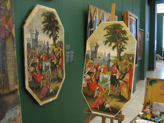 """The original icon and a replica. The icon """"The Entry into Jerusalem"""""""