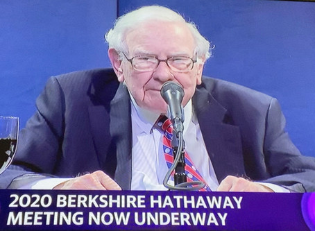 Notes from the Berkshire Hathaway 2020 (Virtual) Annual Meeting
